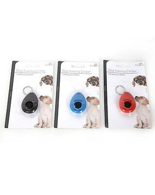 Pet Dog Puppy Training Keyring Clicker Trainer Obedience Aid Click