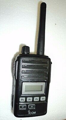 Icom F50V VHF portable radio & Mic 100% TESTED narrowband fire pager GREAT DEAL