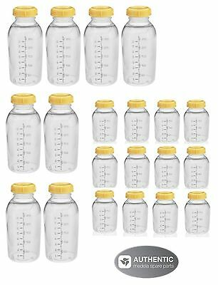 MEDELA BREASTMILK COLLECTION STORAGE FEEDING BOTTLE SET w/lid 12-5oz & 8-8oz NEW