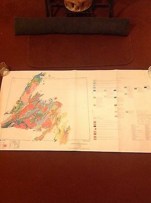 Geological Map Island of Newfoudland Geology Survey of Canada First Edition