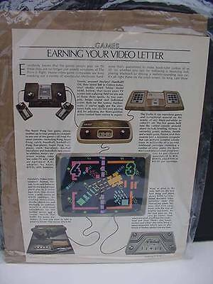 HTF 1978 Vintage Video Game System Ad Advertisement P223