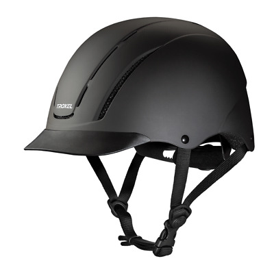 Troxel New Spirit Black Duratec Safety Riding Helmet Low Profile Horse Child