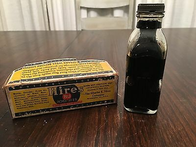 Vintage 1929 Hires R-J Root Beer Extract NOS Original Box, Unopened Bottle