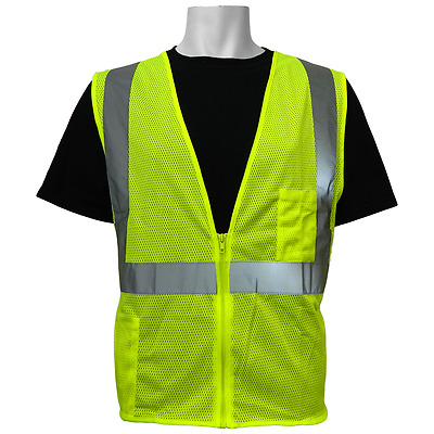 Safety vest class 2 ANSI, Hi visibility, Size: Small, GLO-001-S, Global Glove