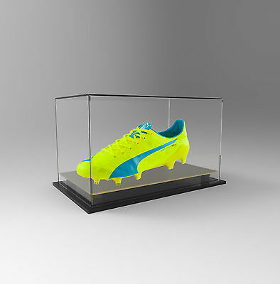Single Boot / Shoe Display Acrylic Perspex Case - Display Boot or Shoe - GOLD