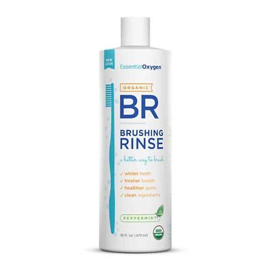 Essential Oxygen Peppermint Brushing Rinse (473ml)  | BRAND NEW