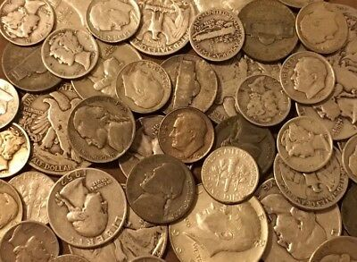 Best WHOLESALE 1/2 Pound OLD US SILVER COINS LOT 8 Oz All Pre 1965-See Promo!