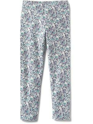Old Navy Printed Short Crop Jersey Leggings For Girls, Ditsy Cool Combo Color