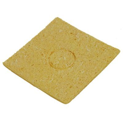 50Pcs Yellow 60x60x3mm Welding Station Solder Soldering Iron Cleaning Sponge U9Y