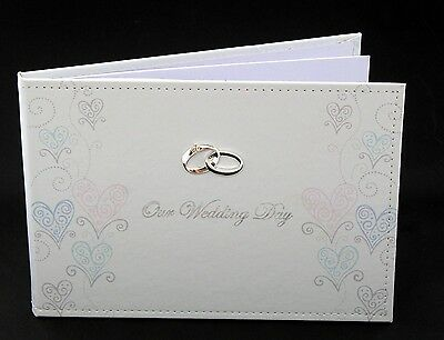 Our Wedding Engraveable Plaque Patterned Wedding Guest Book
