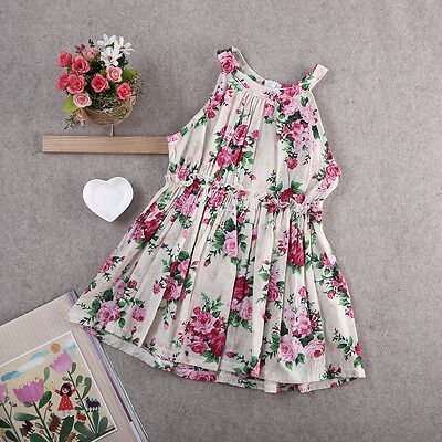 USA Toddler Kids Baby Girls Floral Dress Princess Party Pageant Holiday Dresses