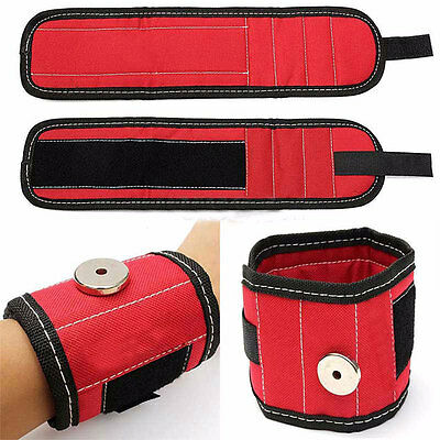 Safety 13.8'' Wrist Support Band Tool Belt Bracelet Screw Kit Magnetic Wristband