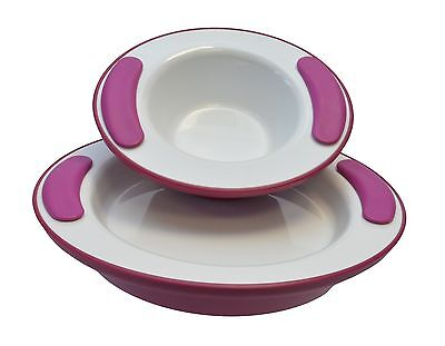 Ornamin 201 / 203 Keep Warm Plate  25 cm and Keep Warm Bowl 330 ml Blackberry
