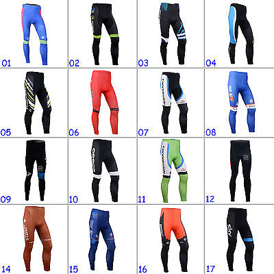 New Fashion Mens Cycling Long Pants Padded Racing Tights Legging Riding Gear
