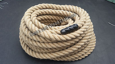 30mm 100% Natural Jute Rope Twisted Braided Cord Decking Garden Boating Camping