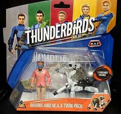 Thunderbirds Are Go! BRAINS AND M.A.X. Twin Pack New! Rare! 10cm scale Figures