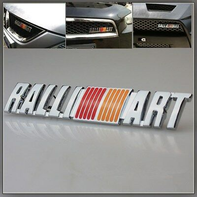 RALLI ART Emblem for Mitsubishi Lancer logo Front Grill Grille Badge ralliart