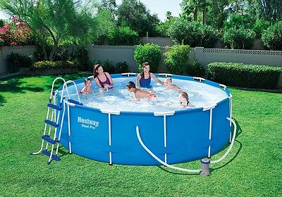 Bestway Steel Pro Frame Swimming Pool Set 12 Feet x 39.5 Inches with Accessories