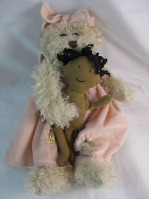 UNCLE BEANS 30cm TEDDY BEAR DANICA AND DOLLY NEW WITH TAGS
