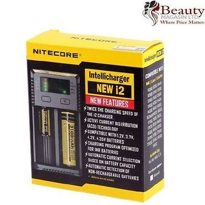 UK Nitecore I2 - 2017 Model - Intelligent 18650 26650 18350 Vape Battery Charger