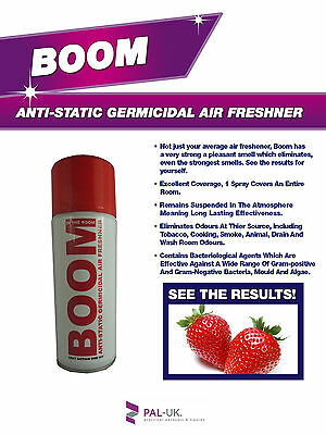 BOOM! Industrial Strength Anti-Static Air Freshener Smoke Odour Bacteria Remover