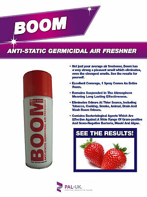 BOOM! Industrial Strength Anti-Static Leather Air Freshener - Cars, Buses, Taxis