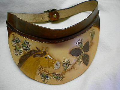 visor, leather , handmade