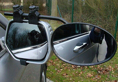 Deluxe Universal Flat Glass Caravan Car Trailer Extension Towing Mirrors M8328