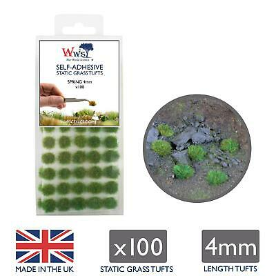 WWS Spring Grass 4mm Self Adhesive Static Grass x 100 Tufts SPR004