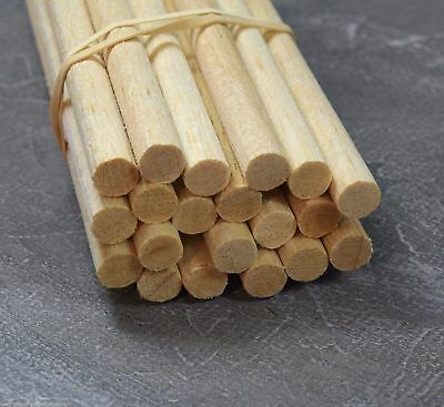 WWS BALSA WOOD DOWEL 10mm (3/8) x 9 lengths of 12 inches (A20)