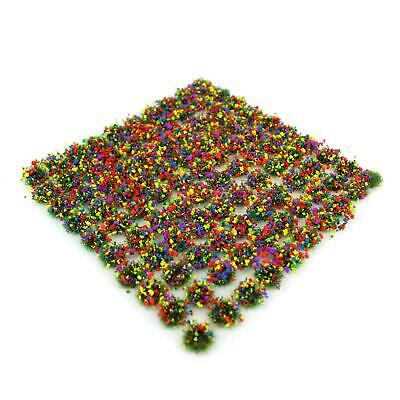 WWS MF1 Mixed Flowers Grass 4mm Self Adhesive Static Grass x 100 Tufts MXF004
