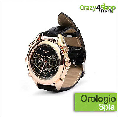 Orologio Da Polso Spia Mini Micro Telecamera Video Camera Spy Audio Foto 8 Gb