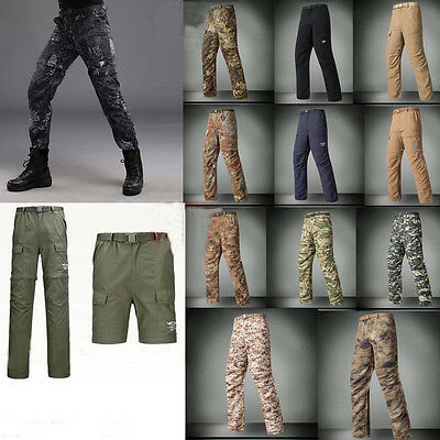 Airsoft Mens Outdoor Quick Dry Anti-UV Zip off Pants Shorts Casual WATERPROOF
