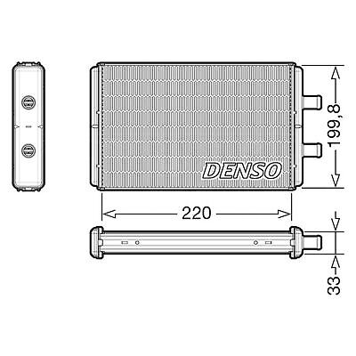 DENSO Heater Core Element - DRR12016 - Interior Heating - Genuine OE Part