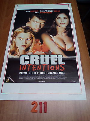 Locandina Cinema   N. 211   -   Cruel Intentions  1° Ed. Italana 1999