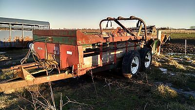 NEW IDEA 245 Manure Spreader w/ tandem axles & slope gate. Parts or Restore