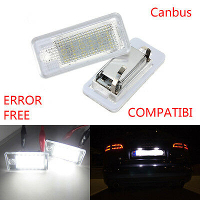 Fit For Audi A4 A5 B6 B7 B8 License Number Plate Light S Line 18 LED Canbus
