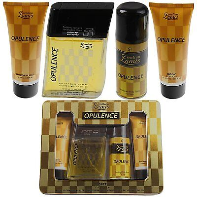 Opulence Gold For Men Parfum Deodorant Duschgel Body Deo Spray Geschenkset 4tlg.
