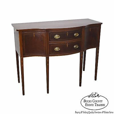 Bench Made Mahogany Federal Style Inlaid Sideboard by Copenhavers