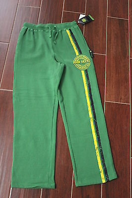 NEW John Deere Boys Sweatpants Pants Green Size Large 14 Pockets Tractor Farming