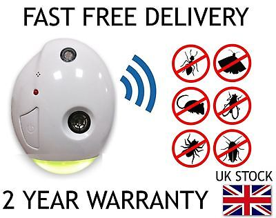 New Ultrasonic Pest Control Repeller Plug In Mice Rats Spiders Insects Rodent