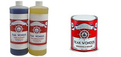 teak wonder kit 1 lt cleaner + 0,5 lt dressing + 1 lt brightener