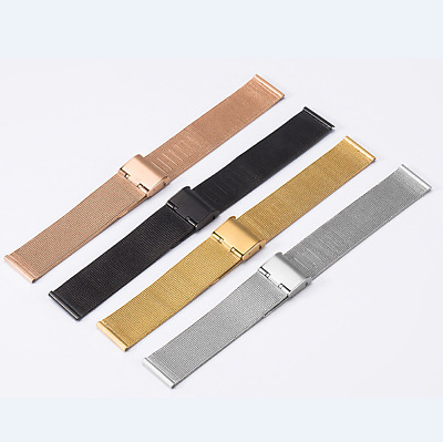 Stainless Steel Bracelet  Mesh Buckle Wristwatch Watch Band Strap 16/18/20/22/24