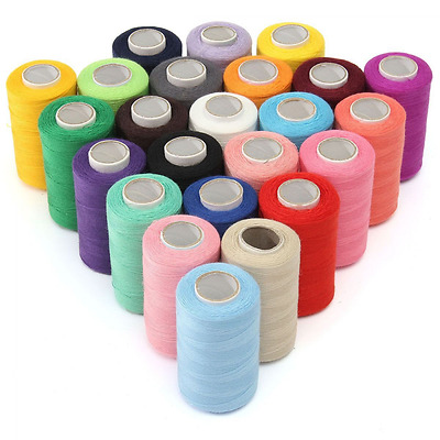 12Pcs Sewing Thread Set 100% Polyester Perfect For All Fabrics By Hand Machine