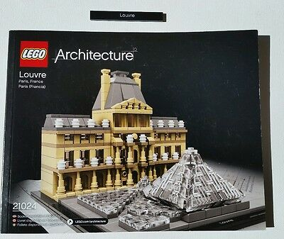 LEGO 21024 Architecture The LOUVRE Paris, France INSTRUCTIONS & NAME TILE ONLY