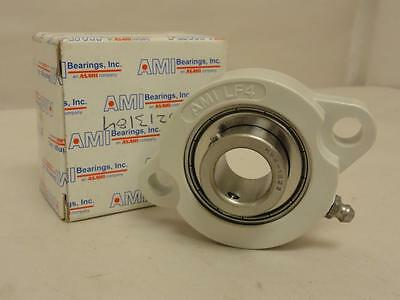 "168622 New In Box, AMI MBLF4-12W Flange Bearing 3/4"" ID 2-Bolt PBT Thermoplastic"