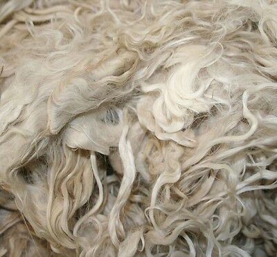 Suri Alpaca Fleece for Crafts Dolls Top Quality Fibre Wool 50g+, White & Colours