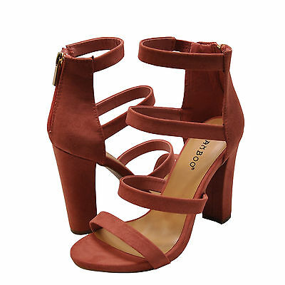 5cb211c616 Women's Shoes Bamboo Limelight 49M Strappy Chunky Heel Sandals Mauve *New*
