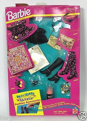 Barbie Activities Decorate 'n Dazzle Fashion Accessories Going Shopping Nrfb