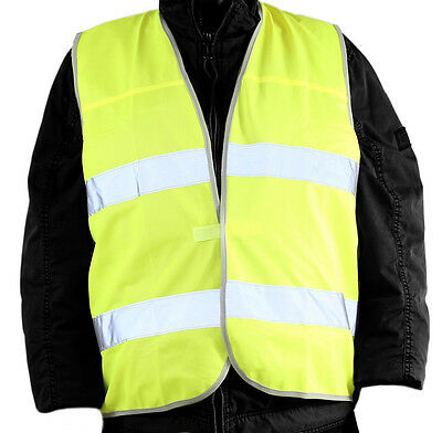 Warning vest yellow Standard EN ISO 20471 2013 Safety vest retroreflective